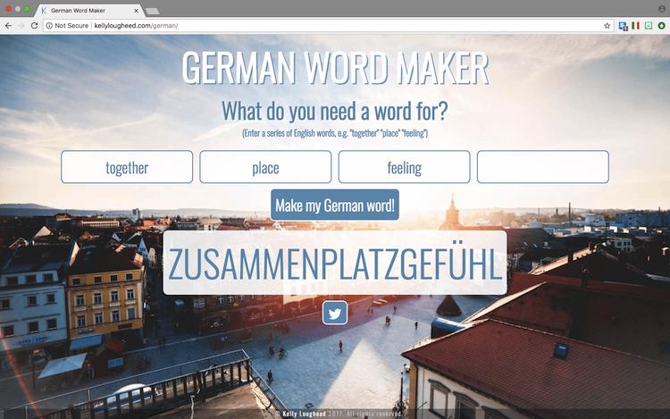 German Word Maker